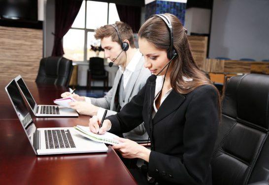 20278524 - call center operators at work